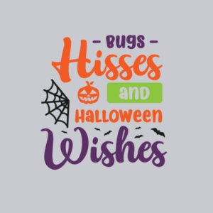 Bugs, Hisses & Halloween Wishes T-shirt Design